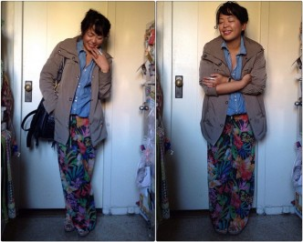 fall flower pants