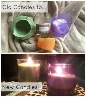 diy old candles to new candles