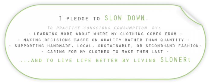 slow down pledge