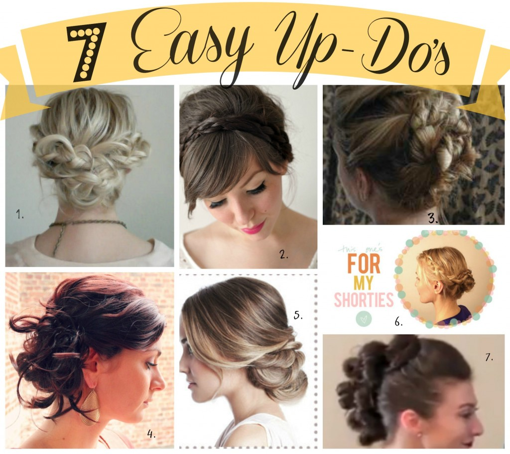 7 easy updos