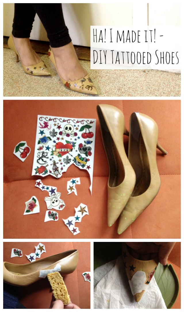 diy tattoed shoes- 1