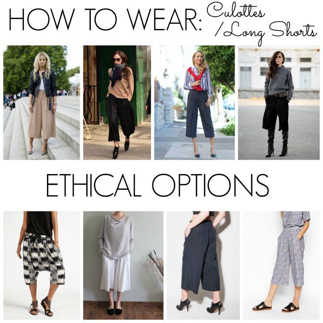 how to wear culottes long shorts